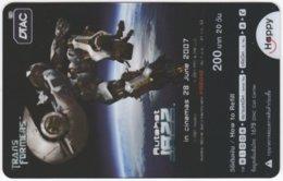 THAILAND F-452 Prepaid Happy - Cinema, Transformers - Transparency - Used - Thailand