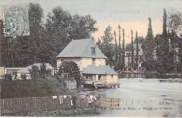 MOULIN A EAU Water Mill - 72 - Env . Du MANS - Jolie CPA Colorisée - Wassermühle Watermolen Mulino Ad Acqua - Sarthe - Moulins à Eau
