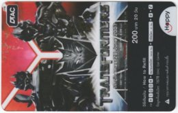 THAILAND F-453 Prepaid Happy - Cinema, Transformers - Transparency - Used - Thailand