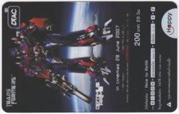 THAILAND F-454 Prepaid Happy - Cinema, Transformers - Transparency - Used - Thailand