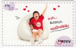 THAILAND C-589 Prepaid Happy - People, Child - Used - Thailand