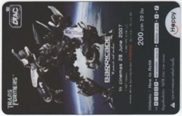 THAILAND F-445 Prepaid Happy - Cinema, Transformers - Transparency - Used - Thailand