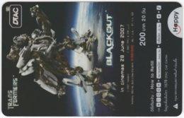 THAILAND F-444 Prepaid Happy - Cinema, Transformers - Transparency - Used - Thailand
