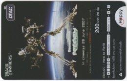 THAILAND F-443 Prepaid Happy - Cinema, Transformers - Transparency - Used - Thailand