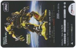 THAILAND F-442 Prepaid Happy - Cinema, Transformers - Transparency - Used - Thailand
