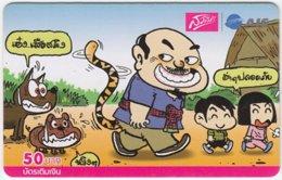 THAILAND C-494 Prepaid 1-2-call/AIS - Cartoon, Animal, Dog - Used - Thailand