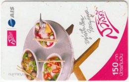 THAILAND C-481 Prepaid 1-2-call/AIS - Food, Soup - Used - Thailand