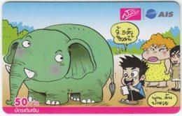 THAILAND C-477 Prepaid 1-2-call/AIS - Cartoon, Animal, Elephant - Used - Thailand