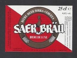 Etiquette De Bière De Luxe -   Saer Bräu  - Brasserie  (59298) - Beer