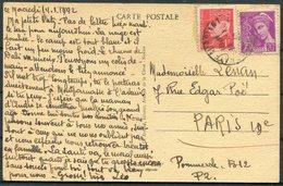1942 France 4 X Camp De Choisel, Chateaubriant Interment Camp Postcards (+1 Not Posted) - Paris. Civilian Internee Vichy - Covers & Documents