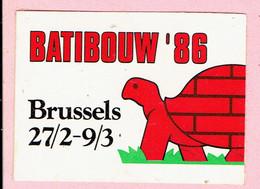 Sticker - BATIBOUW 1986 - BRUSSELS - Autocollants
