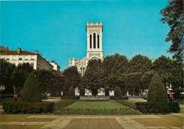 42 - Saint Etienne - Jardin De La Place Jean-Jaurès - Eglise Saint-Charles - Voir Scans Recto-Verso - Saint Etienne
