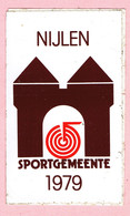 Sticker - NIJLEN - Sportgemeente - 1979 - Autocollants