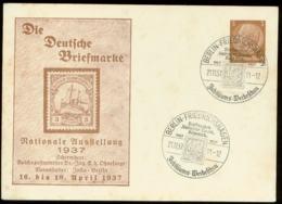 P0865 - DR GS Postskarte Kolonie Briefmarke 1937: Gebraucht Mit Sonderstempel Berlin Friedrichshagen 1937 - Duitsland
