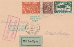 """Deutsches Reich / 1922 / Mi. 111/112 """"Flugpostmarken"""" U.a. Auf Lupo-Drucksache (2333) - Storia Postale"""