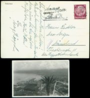 P0721 - DR Palermo Postkarte , Schiffspost: Gebraucht Mit Wilhelm Gustloff Werbestempel - München 1939, Bedarfserhaltu - Germany