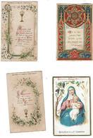 Lot De 4 Images Religieuses  De L'Abbaye D'IGNY - Devotieprenten