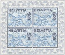 SCHWEIZ 1726, Kleinbogen, Postfrisch **, St. Galler Stickerei 2000 - Blocs & Feuillets