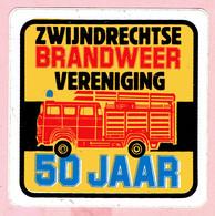 Sticker - 50 Jaar ZWIJNDRECHTSE BRANDWEER Vereniging - Autocollants