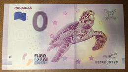 62 BOULOGNE NAUSICAA TORTUE MARINE BILLET 0 EURO SOUVENIR 2019 PAPER MONEY 0 EURO SCHEIN BANKNOTE - EURO