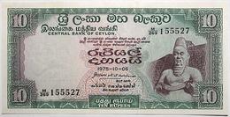 Sri Lanka - 10 Roupies - 1975 - PICK 74 Ab - NEUF - Sri Lanka