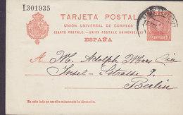 Spain UPU Postal Stationery Ganzsache Entier 10 Cs Alphonse XIII. C. ARRIETA, SAN SEBASTIAN 190? BERLIN Alemania Germany - Ganzsachen