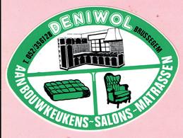 Sticker - DENIWOL - Brussegem - Aanbouwkeukens-Salons-Matrassen - Autocollants