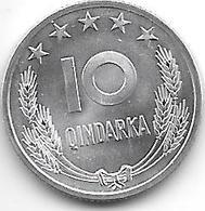 *albania 10 Qindarka 1969  Km 45  Bu - Albania