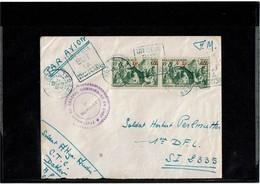 """LCTN59/LE/5 - SENEGAL  LETTRE DAKAR / SECTEUR POSTAL 2335 12/11/1943 DAGUIN """"UN SEUL BUT LA VICTOIRE"""" CACHET VAGUEMESTRE - Senegal (1887-1944)"""
