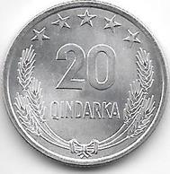 *albania 20 Qindarka 1969  Km 46  Bu - Albania