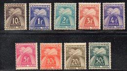 XP4138 - ANDORRA FRANCESE 1946,  Segnatasse Serietta 32/40 (manca Solo L'alto Valore)  **  MNH (2380A) - Nuevos