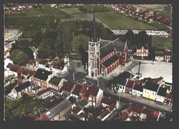 Sint-Gillis-Waas - Luchtopname - Kerk En Gemeenteplein - Sint-Gillis-Waas