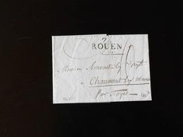 LETTRE DE ROUEN POUR TROYES  -  1798  - - 1701-1800: Précurseurs XVIII
