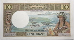 Tahiti - 100 Francs - 1971 - PICK 24a - SUP+ - Papeete (French Polynesia 1914-1985)