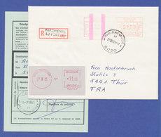 Belgien FRAMA-ATM P3046 ENDSTREIFEN-ATM Auf R-Brief.  ÄUSSERST SELTEN ! - Postage Labels