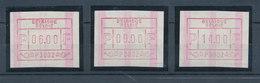 Belgien FRAMA-ATM Legendäre P3002 Mit ENDSTREIFEN, Tastensatz 6-9-14 BFr. ** - Postage Labels