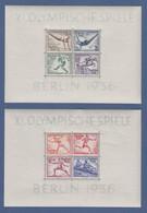 Deutsches Reich 1936 Olympiade-Blockpaar Mi.-Nr. Block 5 Und 6 Ungebraucht * - Allemagne