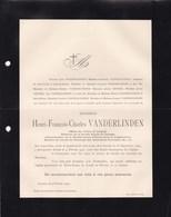 ANVERS ZOO Société Royale De Zoologie Président Henri VANDERLINDEN 1824-1902 Famille GEVERS - Décès