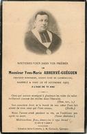 Yves Marie Abhervé-guégen Curé De Lambézellec 29  (scan Recto Et Verso ) 11 X 6 - Devotion Images