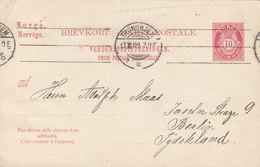 Norway UPU Postal Stationery Ganzsache Entier Tms. Cds. TRONDHJEM 1909 BERLIN Germany (2 Scans) - Ganzsachen