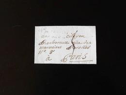 LETTRE DE PROVINS POUR PARIS  -  1796  - - Postmark Collection (Covers)