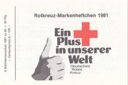 BRD DRK-MH Mit 6x 1110, Postfrisch **, Wohlfahrt 1981 - [7] Repubblica Federale