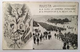 30194 Dopo Le Grandi Manovre - Passata Da S . M . Re Vittorio Emanuele III - Familles Royales