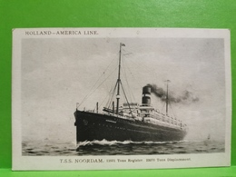 Holland-America Line. T. S. S. NOORDAM - Paquebots