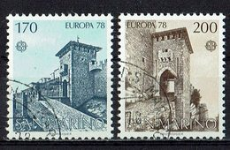 *San Marino 1978 // Mi. 1156/1157 O - Europa-CEPT