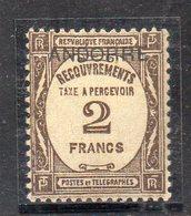 XP4687 - ANDORRA FRANCESE 1931,  Segnatasse 2 Franco N. 14  *  Linguella (2380A)  RARO - Nuevos