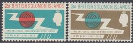 Solomon Islands 1965 - The Centenary Of ITU - Mi 128-129 ** MNH - Iles Salomon (...-1978)