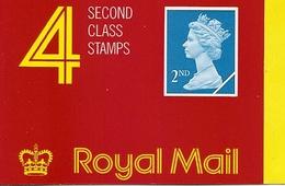 GREAT BRITAIN, WINDOW BOOKLET (RETAIL), 1989, HA 2, 4x2nd - Boekjes