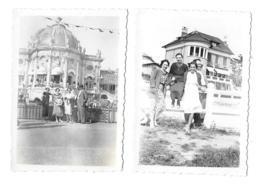 DEUX PHOTOS.  ROYAN......FORMAT   88 X 61  MM..  LE CASINO..UNE VILLA..1937... TBE SCAN - Royan