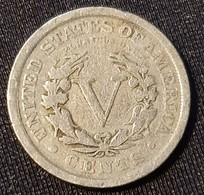 USA 5 Cents 1910 - Federal Issues